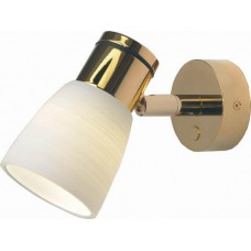 Munich, Gold with White Glass Shade Item:ILPB20011909