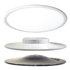 Ceiling LED Round Pendant LED ROUND PENDANT 45W 24IN 3500K , EDGE LIT BLACK MLRP24E4535CHB